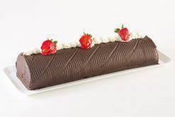 Rollo de Chocolate con Fresa